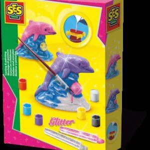 SES Creaza si picteaza - Delfin + sclipici
