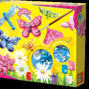 SES Creaza si picteaza - Fluture + sclipici