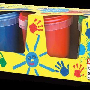SES Pictura cu degete 4 culori x 150ml