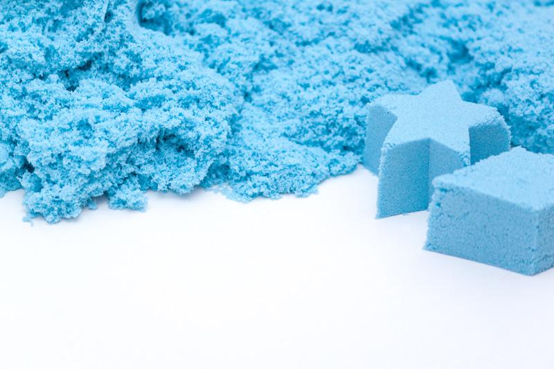 Nisip Kinetic albastru forma stea si cub